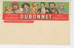 PUBLICITE - ALCOOL - Jolie Carte PUB Pour Vin Tonique Au Quinquina DUBONNET - Publicité