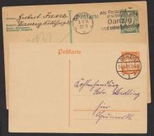 2 Bedarfskarten, P 24 I, P 42, O - Danzig