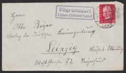 """Oberschlesien, Landpoststempel """"Pilgramsdorf, Lüben (Schlesien) Land"""", 25.11.29 - Deutschland"""