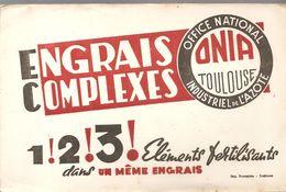 Buvard ONIA OFFICE NATIONAL INDUSTRIEL DE L'AZOTE TOULOUSE ENGRAIS COMPLEXES 1!2!3! - Agriculture