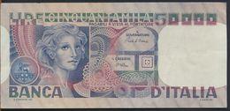 °°° ITALIA - 50000 LIRE VOLTO DI DONNA 02/11/1982 SERIE EB °°° - [ 2] 1946-… Republik