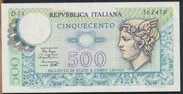 °°° ITALIA - 500 MERCURIO 14/02/1974 SERIE D °°° - 500 Lire