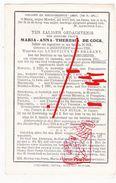 DP Fam. Maria A. De Cock Van Brabant 11knd Heestert Tiegem Zwevegem Petegem Anzegem Desselgem Kaster - Devotion Images