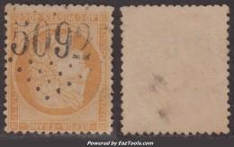 GC 5092 Mersina Sur 40c Siège (Y&T N° 38, Cote 120€) - Poststempel (Einzelmarken)