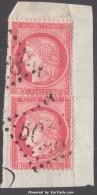 GC 5098 Smyrne Sur Deux 80c Cérès (Y&T N° 57, Cote +++€) - Marcophily (detached Stamps)