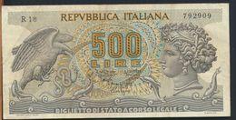 °°° ITALIA - 500 ARETUSA 20/10/1967 SERIE R °°° - 500 Lire