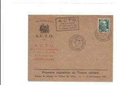 Enveloppe Exposition Philatelique Libourne1945 Avec Marianne De Gandon - France
