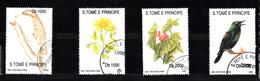 Sao Tome En Principe 1992 Mi Nr 1330 - 1333, Flora En Fauna, Vogels, Birds, Flower, Bloemen - Sao Tome En Principe