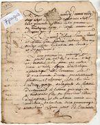 VP11.447- ALENCON - Acte De 1743 - Contrat De Mariage De Mr De LA PORTE Du CASTELLIER à LISIEUX & Melle LECLERC à BERNAY - Cachets Généralité