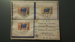 FDC Service N°17 à 19 - Conseil De L'Europe - 11/10/1958 - 1950-1959