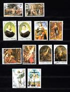 Sao Tome En Principe 1983 Mi Nr 815 - 826; Schilderijen Van Rubens, Rembrandt, En Raffael, Compleet Gestempeld - Sao Tome En Principe