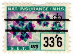 (I.B) Elizabeth II Revenue : National Insurance 33/6d - 1952-.... (Elizabeth II)