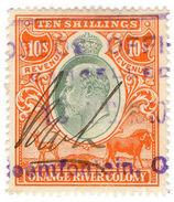 (I.B) Orange River Colony Revenue : Duty Stamp 10/- - South Africa (...-1961)