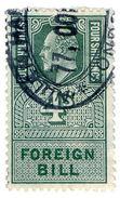 (I.B) Edward VII Revenue : Foreign Bill 4/- (1902) - 1902-1951 (Kings)