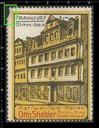German Poster Stamps, Reklamemarke, Cinderellas, Vignette, Frankfurt, Goethe Birth House, Goethe Geburtshaus - Cinderellas