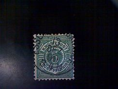 Germany (Wurttemberg), Scott #59, Used (o), 1890, 5 Pfennigs, Green - Wurttemberg
