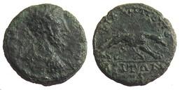 [H] +++ AE19 -- COMMODUS  --  PHILIPPOPOLIS In Thracia - She-wolf Suckling Romulus And Remus - RR! +++ - Römische Münzen