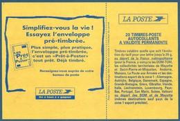 Carnet DAB 20 Timbres Briat TVP Rouge Autoadhésif N°2874-C9 - Essayez L'enveloppe Pré-timbrée Neuf** - Markenheftchen