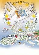 FRANCE- CPM - JOURNEE EUROPEENNE DES JUMELAGES - COURNON D'AUVERGNE 2 JUIN 2001 - CH. CHABERT ILLUSTRATEUR/1 - Altre Illustrazioni