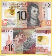 Scotland 10 Pounds P-new 2017 Clydesdale Bank UNC - [ 3] Scotland