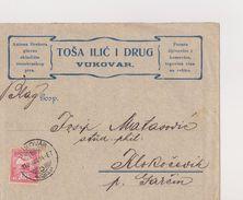 CROATIA     ---  BRIEF     --  VUKOVAR  /  TOSA ILIC I DRUG   / PECARA SLJIVOVICE I KOMOVICE  /   1912 - Kroatien