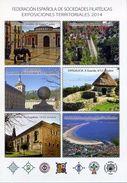 Tarjeta Exposiciones Regionales 2014. Spanish Regional Exhibitions Card 2014. Special Cancel From Laredo - 1931-Aujourd'hui: II. République - ....Juan Carlos I