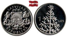 Lettonie - 1 Lats 2009 (Christmas Tree - UNC) - Lettland