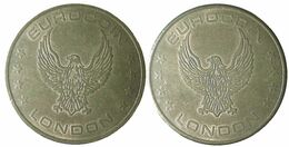 02242 GETTONE TOKEN JETON FICHA GAMING SLOT EUROCOIN LONDON - Unclassified