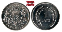 Lettonie - 1 Lats 2010 (Horseshoe - UNC) - Latvia