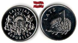 Lettonie - 1 Lats 2012 (Hedgehog - UNC) - Lettonie