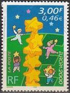 France 2000 Yvert 3327 O Cote (2012) 0.50 Euro Europa CEPT Colonne D'étoiles Européennes Cachet Rond - France