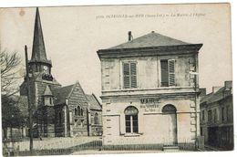 CPA - 76 - OCTEVILLE SUR MER - La Mairie Et L'Eglise - - France