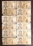 Billet. 8. Douze Billets Belges De 20 Francs De 1964 - [ 6] Treasury
