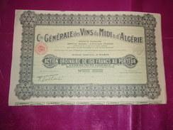 Cie Générale Des VINS DU MIDI & D'ALGERIE - Shareholdings