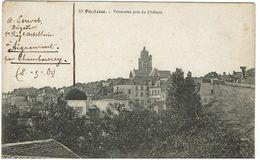 CPA -95  PONTOISE  - Panorama Pris Du Château - 1915 - Tampon Régiment D'Artillerie à Pied- - Pontoise