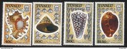 1991 Tuvalu Shells Complete Set Of 4  MNH - Tuvalu