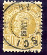 ROMANIA 1885 King Carol 50 B. Perforated 11½, Used.  SG 186, Michel 69 - 1881-1918: Charles I