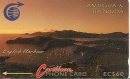 CARTE-MAGNETIQUE-ANTIGUA & BARBUDA-EC$60--ENGLISH HARBOUR-UTILISE-BE - Antigua And Barbuda