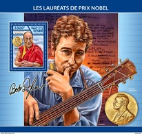 CHAD 2017 - Dalai Lama, Nobel Prize S/S. Official Issue. - Buddhism