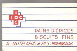 Buvard IDC Pains D'épices Biscuits Fins A. NOTELAERS Et FILS TOURCOING PARIS - Gingerbread