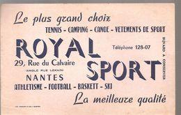 Buvard ROYAL SPORT 29, Rue Du Calavaire à Nantes Le Plus Grand Choix Tennis Camping Canoe Vêtement De Sport - Sports
