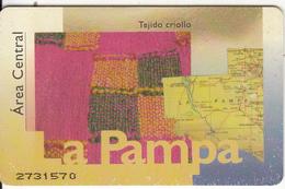 ARGENTINA(chip) - La Pampa, Telefonica Telecard(F 02), Chip GEM1, Used - Argentinien