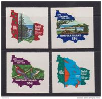 Norfolk Island 1974 UPU Self Adhesive Set 4 MNH - Norfolk Island