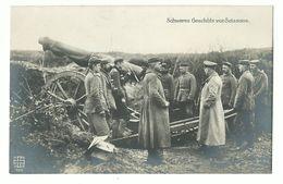 1. Weltkrieg Schweres Geschütz Vor Soissons Foto-AK - Guerre 1914-18