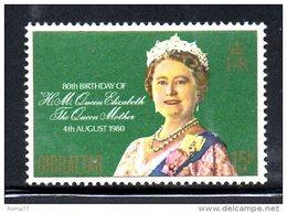 GIBILTERRA 1980 , Serie N. 410  MNH  *** Queen Mother - Gibilterra
