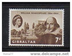 108 - GIBRALTAR , William Shakespeare : N. 162  *** - Gibilterra