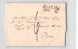 AG-B403 01 SARZANA X PISA - SENZA TESTO - 1. ...-1850 Prefilatelia