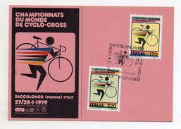 Italia - Padova - 1979 - Campionato Del Mondo Di Ciclocross - Color Rosa - Con Annulli Filatelici - (FDC6224) - Cyclisme