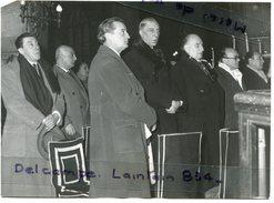 Photo De Presse  Original - Obsèques De Vincent SCOTTO, 18-11-1952, Paris, FERNANDEL, Marcel Pagnol, Tino ROSSI, Scans. - Beroemde Personen