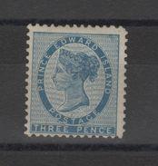 Amérique - Ile- Du-Prince Edouard (1861 Reine Vitoria  Signé Brun  (three Pence ) - Prince Edouard (Ile)